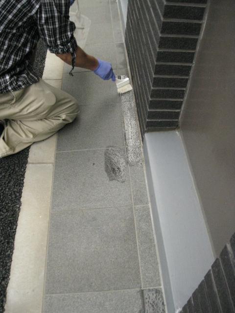 黒御影石シミ抜き(浸透性コートのムラ除去)のサムネイル