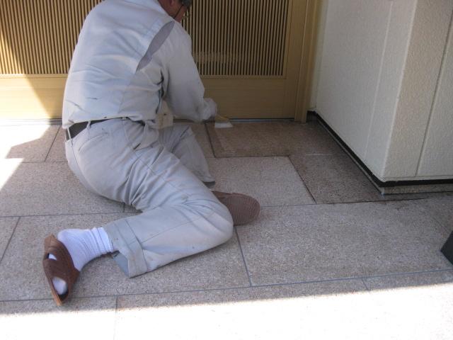 御影石玄関のウェットコート仕上げのサムネイル
