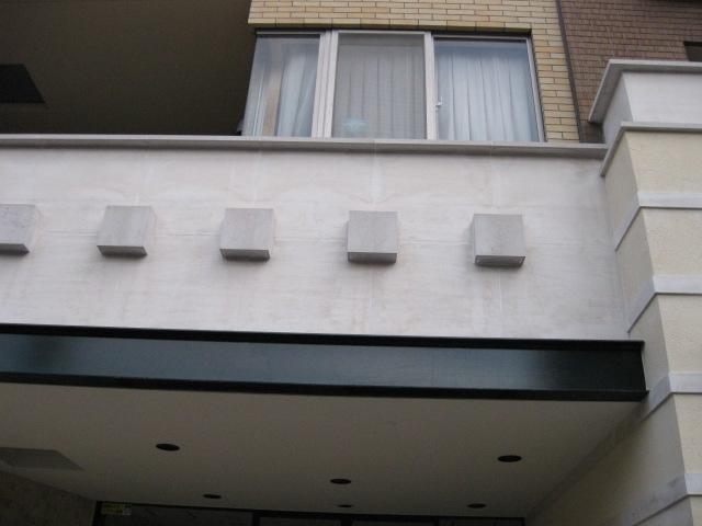 ライムストーン(モカクリーム)外壁の水垢除去のサムネイル