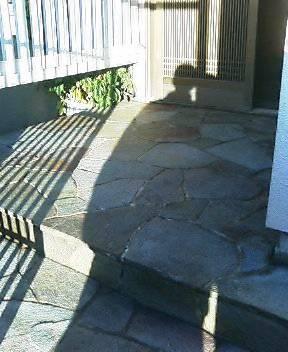 鉄平石の洗浄・コート施工のサムネイル