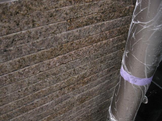 御影石に出たエフロ除去のサムネイル