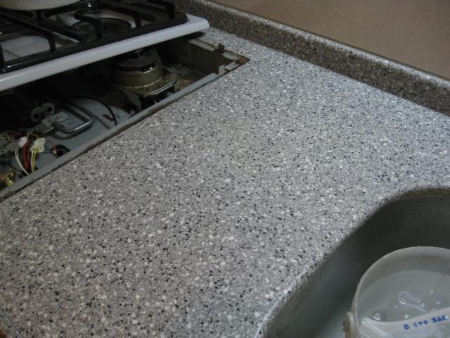 キッチンカウンター(人造石)のシミ抜きのサムネイル