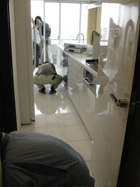 白色大理石には、防汚用にトップコートがお勧めです。のサムネイル