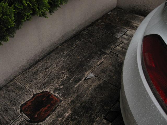 外構の大理石洗浄のサムネイル